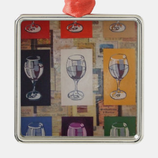 anyone for a glass square metal christmas ornament