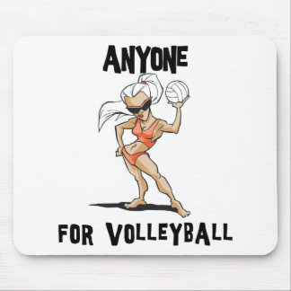 Anyone For Volleyball Women s Mouse Pad
