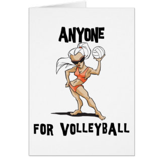 Anyone For Volleyball Women's Card