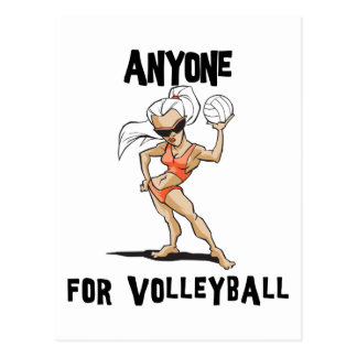 Anyone For Volleyball Women's Post Card