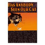 Anyone seen our cat - cute cat postcard greeting card