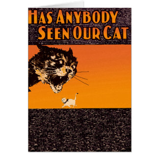Anyone seen our cat - cute cat postcard
