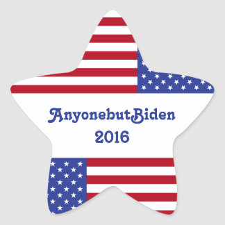AnyonebutBiden 2016-American Flag/Star Star Sticker