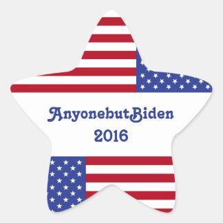AnyonebutBiden 2016-American Flag/Star Star Sticker