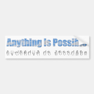 Anything Bumper Sticker