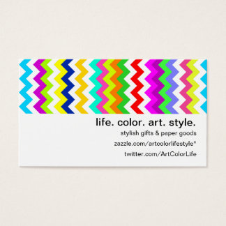 Anything But Gray Chevron Business Card