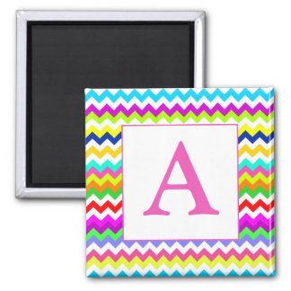 Anything But Gray Chevron Custom Initial Magnets