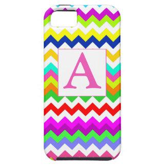 Anything But Gray Chevron Custom Intital Monogram iPhone SE/5/5s Case