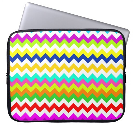 Anything But Gray Chevron Laptop Computer Sleeves