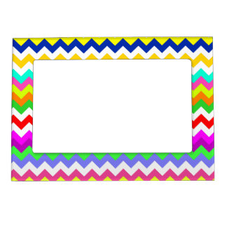 ANything But Gray Chevron Magnetic Picture Frame