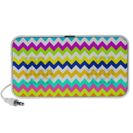 Anything But Gray Chevron Laptop Speakers
