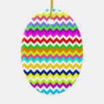 Anything But Gray Chevron Stripes Ornaments