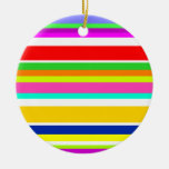 Anything But Gray Colorful Stripes Christmas Ornament
