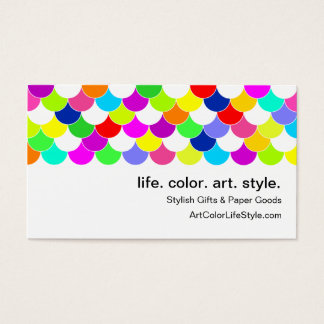 Anything But Gray Fish Scales Business Card