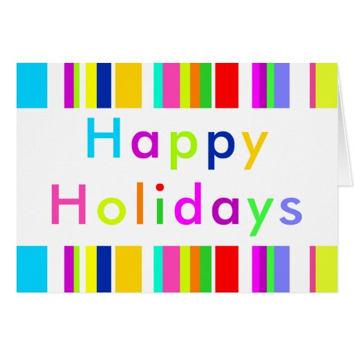 Anything But Gray Happy Holidays Card