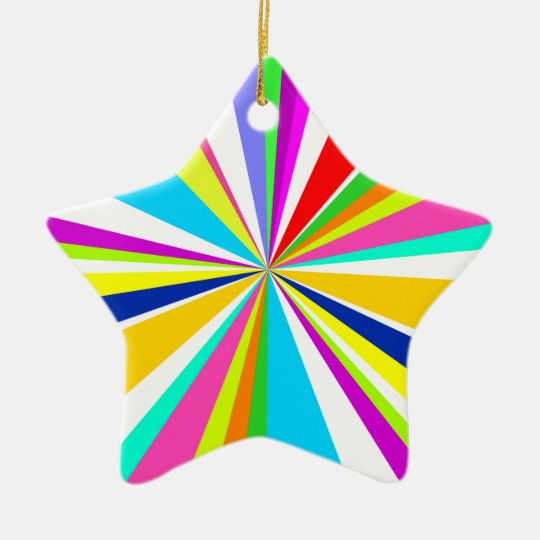 Anything But Gray Starburst Ceramic Ornament