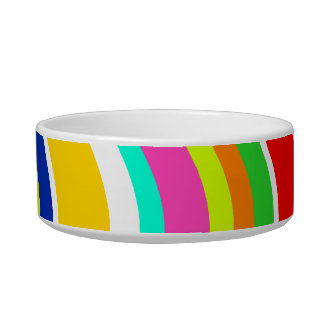Anything But Gray w/ Curves Pet Bowls