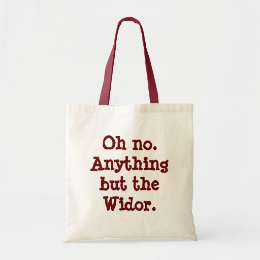 """""""Anything but the Widor"""" shopping bag"""