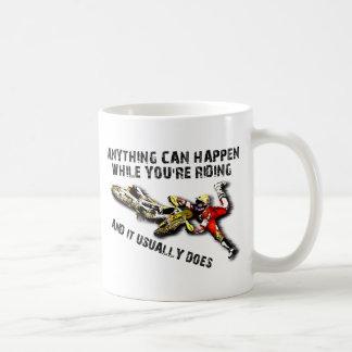 Anything Can Happen Dirt Bike Motocross Funny Mug