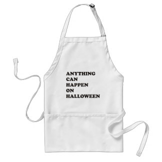 Anything Can Happen on Halloween Adult Apron