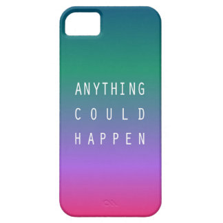 Anything could happen iPhone SE/5/5s case