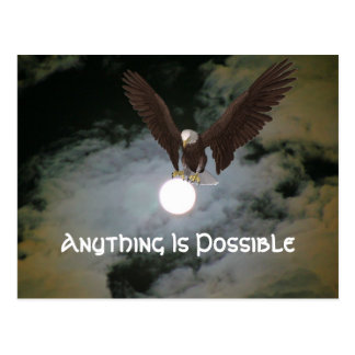 Anything Is Possible Eagle Inspirational Postcard