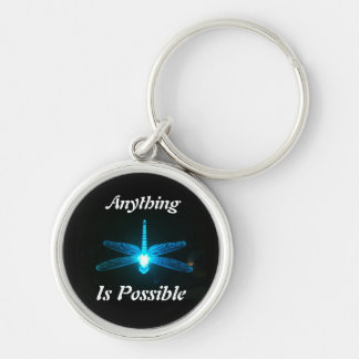 Anything is Possible Silver-Colored Round Keychain