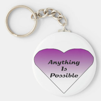 Anything is Possible Basic Round Button Keychain