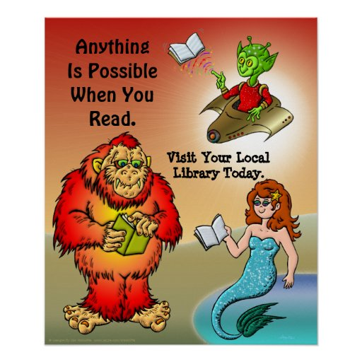Anything  Is Possible When You Read. Poster