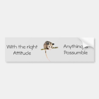 Anything is Possumble bumper sticker