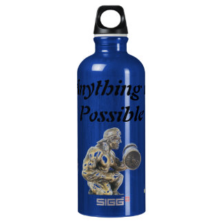 Anything of Possible Body Builder Aluminum Water Bottle