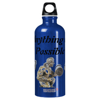 Anything of Possible Weightlifting Aluminum Water Bottle