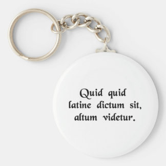 Anything said in Latin sounds profound. Basic Round Button Keychain