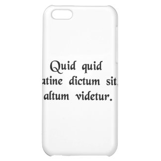 Anything said in Latin sounds profound iPhone 5C Covers