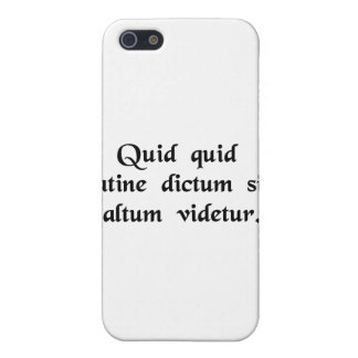 Anything said in Latin sounds profound iPhone 5 Cover