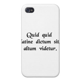 Anything said in Latin sounds profound iPhone 4 Case