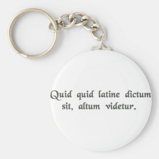 Anything said in Latin sounds profound. Key Chains