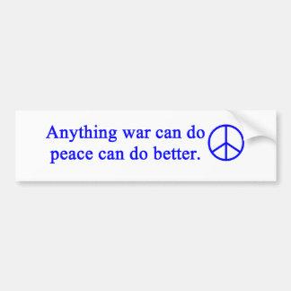 anything_war_can_do_blue car bumper sticker