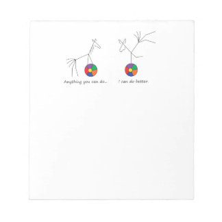 Anything You Can Do... Balancing Mule Notepad
