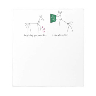 Anything You Can Do... Mule Mathematician Memo Pad