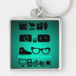 Anything you like -1- Happy Retirement Keychain