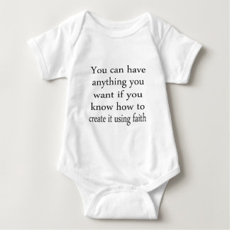 Anything You Want With Faith Baby Bodysuit