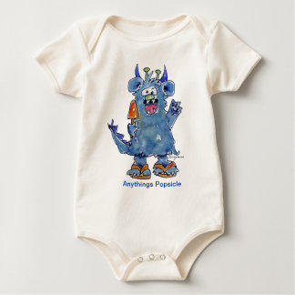 Anythings Popsicle Funny Monster Baby T Shirt