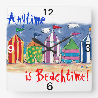 Anytime is Beach Time Wall Clock
