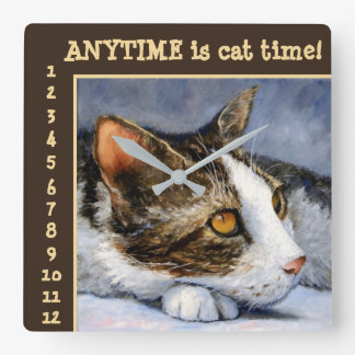 Anytime is Cat Time Art Wall Clock