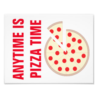 """Anytime Is Pizza Time 8.5""""x11"""" Kitchen Wall Art Photo Print"""
