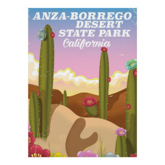 Anza-Borrego Desert State Park travel poster