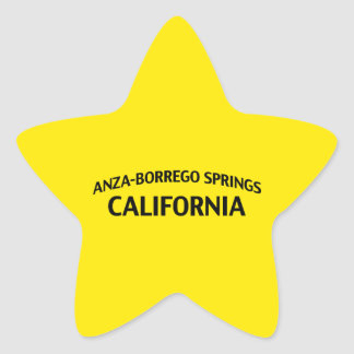 Anza-Borrego salta California Calcomanía Forma De Estrella Personalizadas