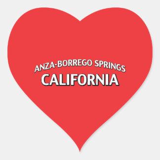 Anza-Borrego salta California Calcomanía Corazón