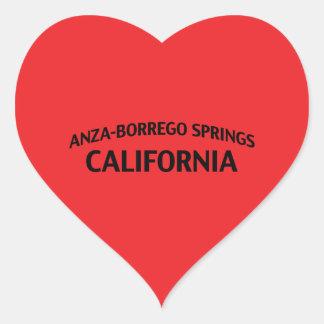 Anza-Borrego salta California Pegatina En Forma De Corazón